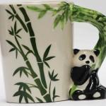 panda mug bamboo