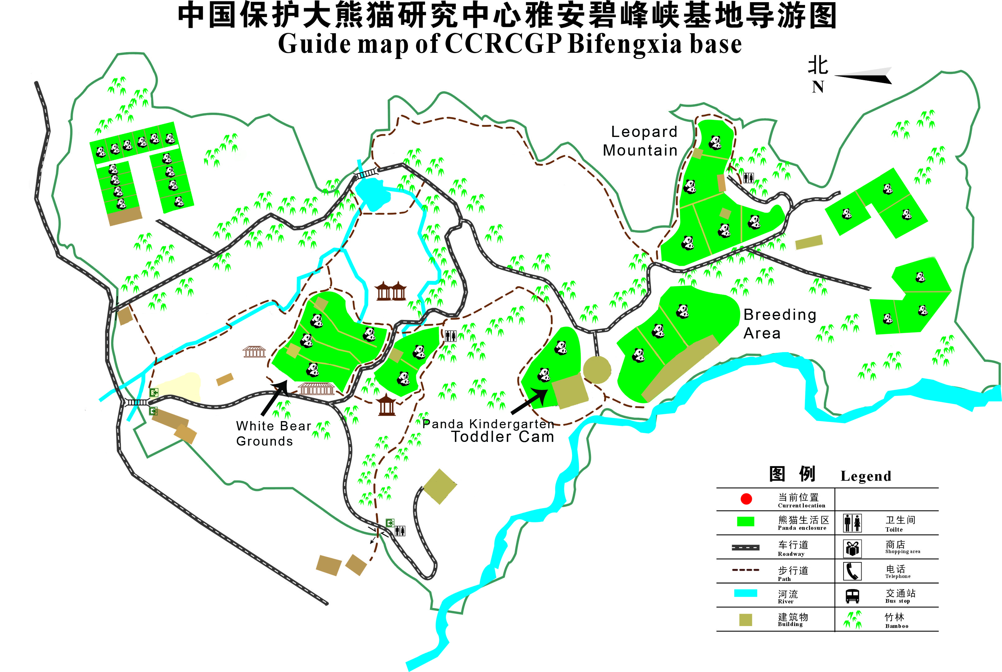 Bifengxia Map