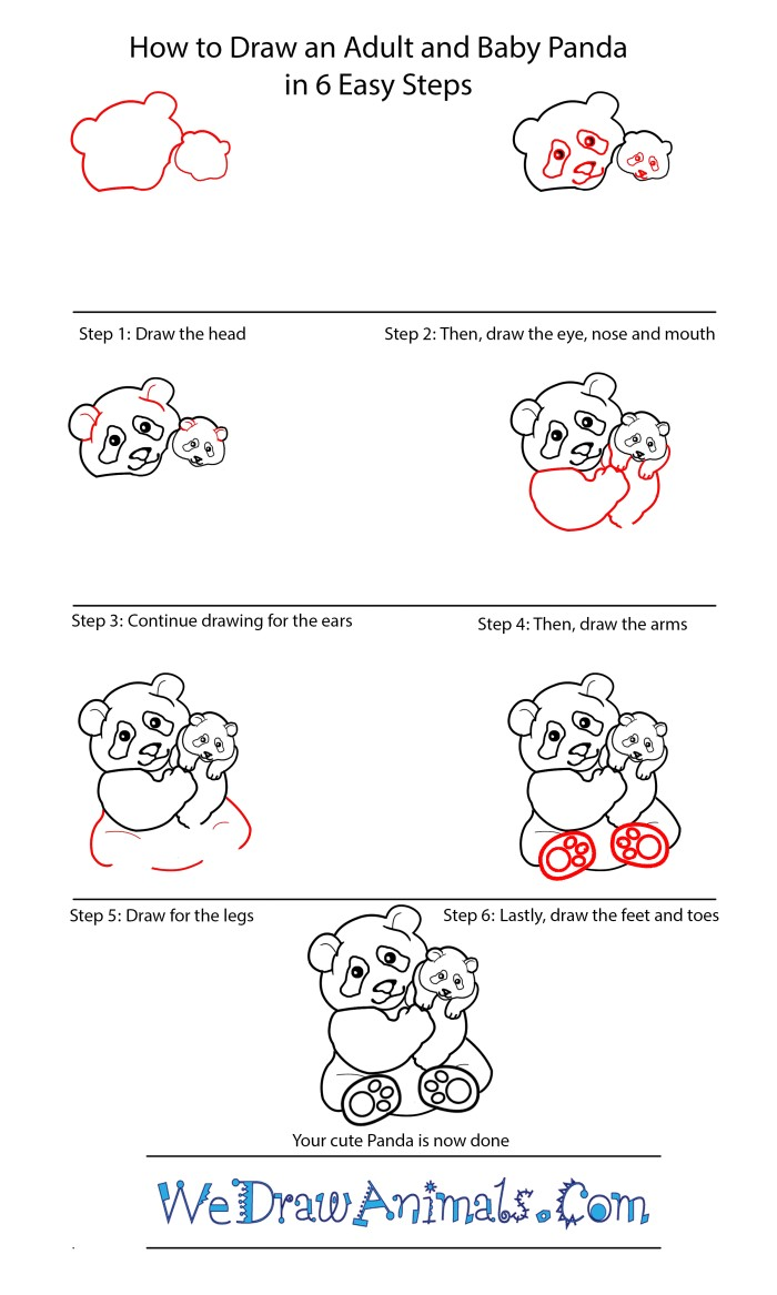 How to draw a panda 2