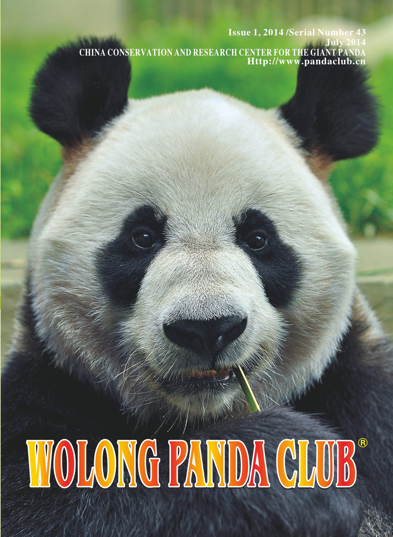 2014 wolong panda club book cover