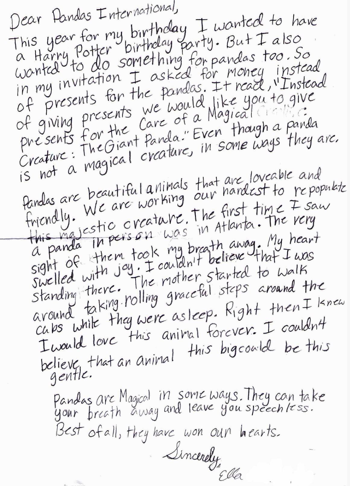 Ella Abarquez letter