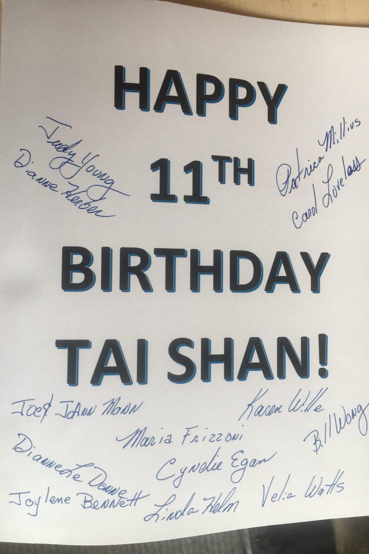 Tai Shan birthday card side 1